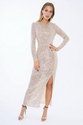 Платье LaVeLa L10180 бежевый