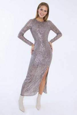 Платье LaVeLa L10180 серый