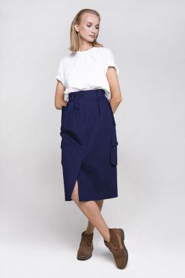 Юбка Individual design 20110 темно синий