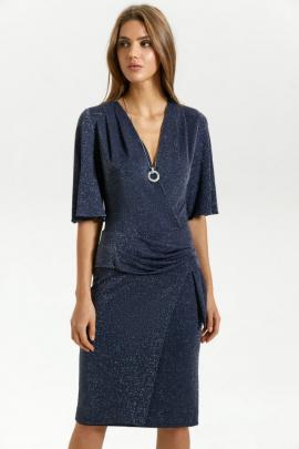 Платье Vladini 4128 синий