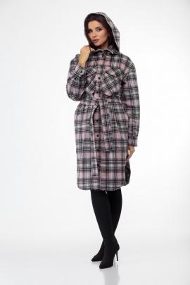 Пальто Anelli 935 розовая_клетка
