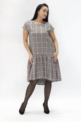 Платье VG Collection 148 бежевая-клетка