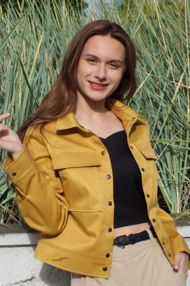 Куртка Lady Smile 02к горчичный