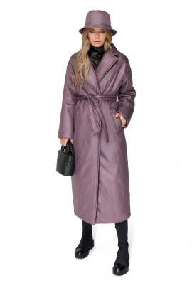 Пальто PiRS 1994 серо-розовый