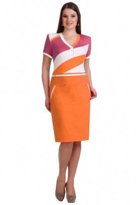 Платье Линия Л Б-1245 оранж+малина