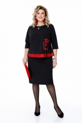 Платье Pretty 1200 черный-красный