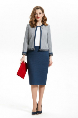 Платье TEZA 301 синий