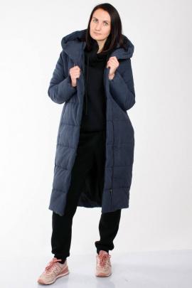 Пальто Weaver 7114 темно-синий