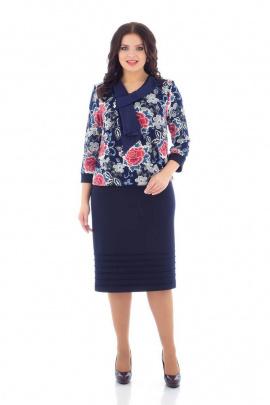 Платье,Брошь Almila-Lux 1002 красный
