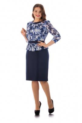 Платье,Брошь Almila-Lux 1016 голубой
