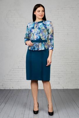 Платье,Брошь Almila-Lux 1016 зеленый