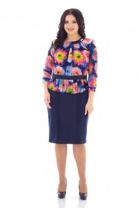 Платье,Брошь Almila-Lux 1016 фиолетовый