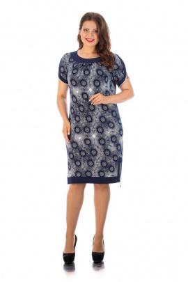 Платье,Брошь Almila-Lux 1020 синий