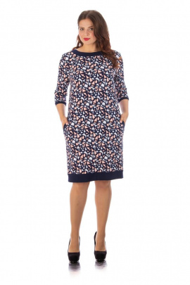 Платье Almila-Lux 1024 сине-розовый