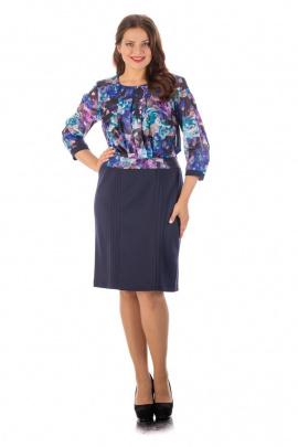Платье Almila-Lux 1026 голубой