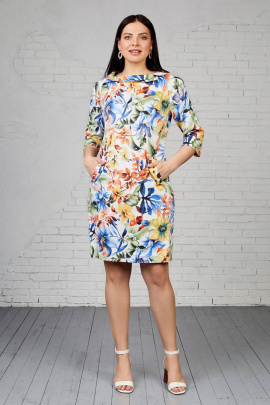 Платье Almila-Lux 1049 оранжевый