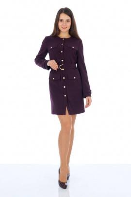 Платье, Пояс Almila-Lux 1059 баклажановый