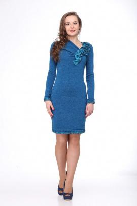 Платье Deluizn 1204 синий