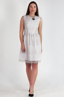 Платье VG Collection 179-2 бело-серый