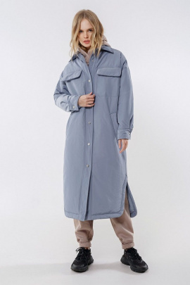 Пальто PiRS 1678 серо-голубой