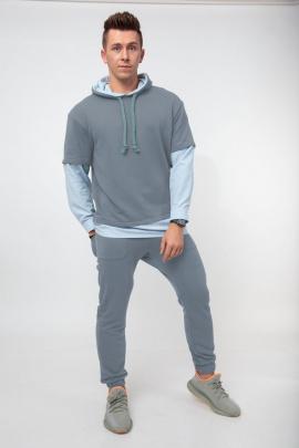 Спортивный костюм HIT 0315 серо-голубой