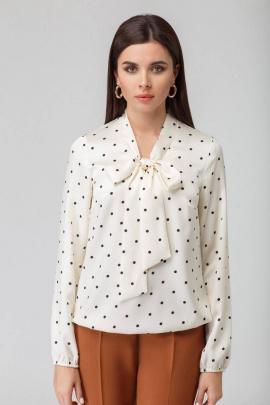 Блуза IVARI 421 горох-молочный