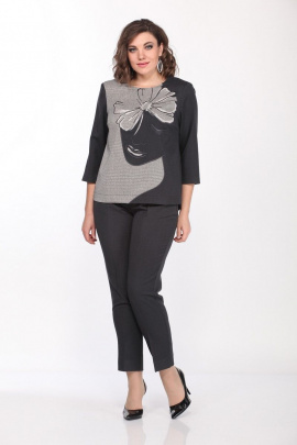 Комплект Lady Style Classic 2178 серый-бежевый