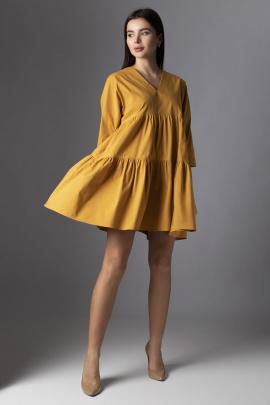 Платье VIZAVI 636 горчица