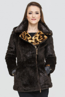 Шуба Зима Фэшн Short-coat-1-03/1-12 коричневый_под_норку