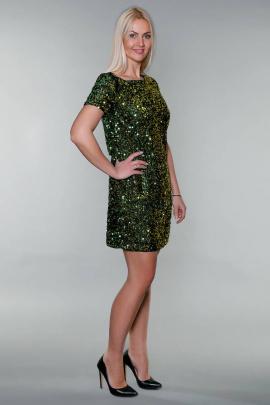 Платье Avila 0827 зеленый