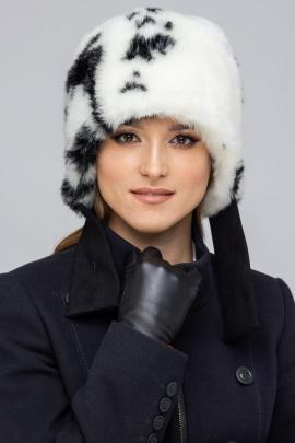 Шапка Зима Фэшн 022HZ-1-10 черно-белый_под_норку