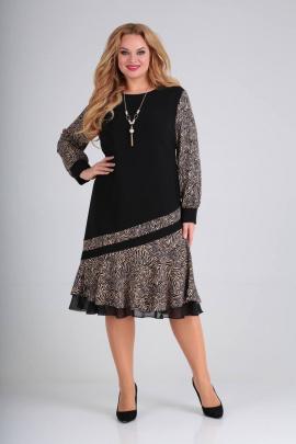 Платье Moda Versal П2211 черный_зебра