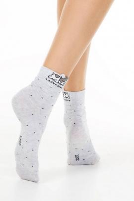 Носки Conte Elegant CONTE_CLASSIC_Puppy_(с_пикотом) светло-серый