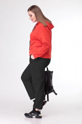 Спортивный костюм Deluizn 897 черный+красный