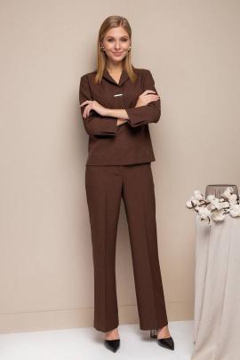 Брюки, Блуза Daloria 9082 темно-коричневый