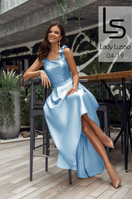 Юбка, Топ Lady Lusso 04-19 голубой