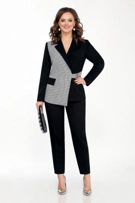 Женский костюм TEZA 2057 черно-белый