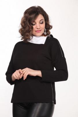 Джемпер Lady Style Classic 2238 черно-белый