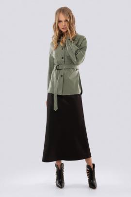 Юбка, Рубашка PiRS 885 зеленый-черный