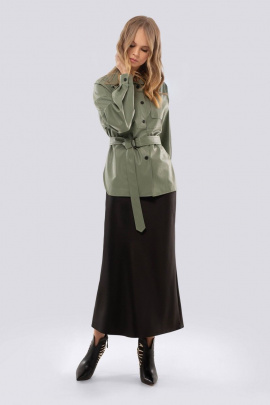 Юбка, Рубашка PiRS 1536 зеленый+черный