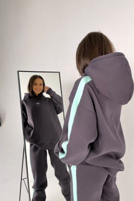 Брюки Rawwwr clothing 238-начес графит+мятный