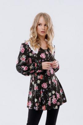 Блуза PiRS 2521 цветы
