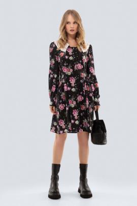 Платье PiRS 2525 розовые_цветы