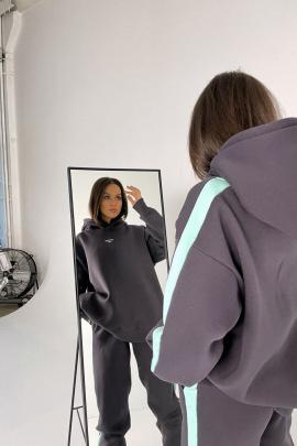 Худи Rawwwr clothing 174 графит/мятный
