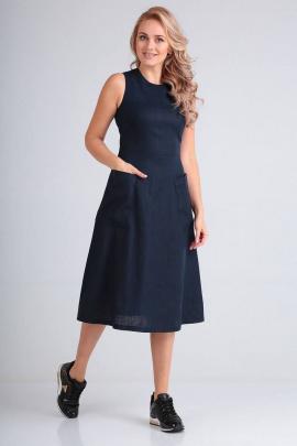 Платье FloVia 4008 темно-синий