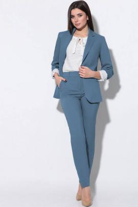 Женский костюм LeNata 31796 темно-голубой