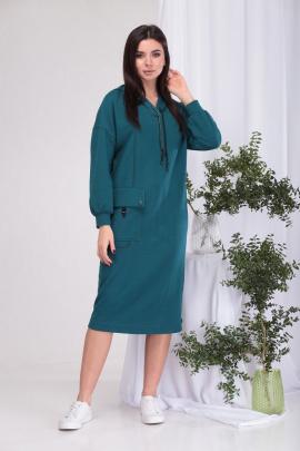 Платье Karina deLux B-389 сине-зеленый