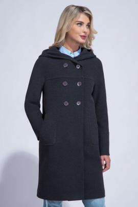 Пальто ElectraStyle 3-8153-128 черный меланж