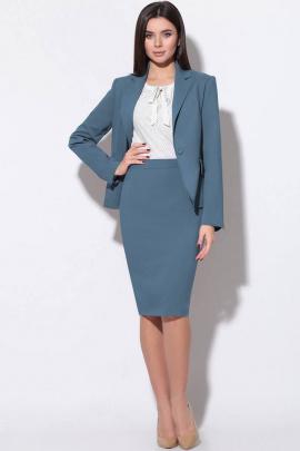 Женский костюм LeNata 31988 темно-голубой