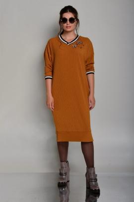 Платье Faufilure outlet С667 горчица